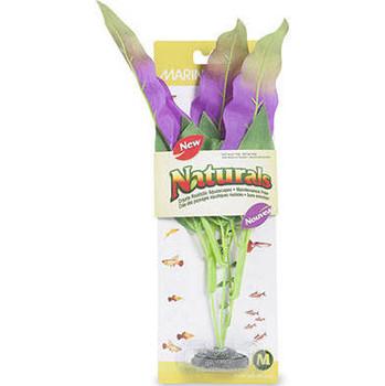 "Enhance Your Aquascape With Lifelike Marina Naturals Silk Plants. Provides Comfort To Your Aquatic Pets. Marina Naturals Indigo - Green Sword Leaf Silk Plant, Large, 33 - 35.5 Cm (13-14"")."