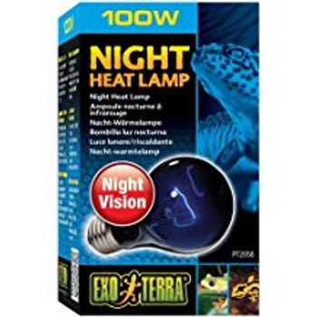 Exo Terra Night Heat Lamp 100w Pt2058{L+7}