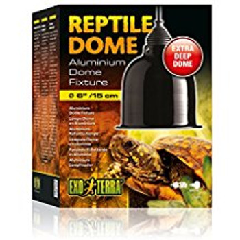 The Exo Terra Reptile Dome Has An Extra Long Aluminum Reflector Dome That Extends Beyond The Face Of Most Bulbs. The Reptile Dome Fixture Gives You The Versatility Of Placing Heat And/or Light Sources On Your Terrarium Where Needed.   The Aluminum Reflect