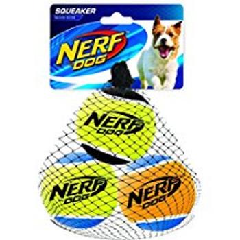 Squeak Tennis Balls, 3pk, M 2.5in (1386)