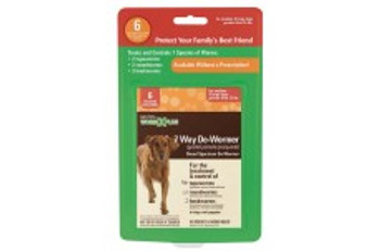 SENTRY Worm X Plus 7 Way De-Wormer Large Dog 6ct