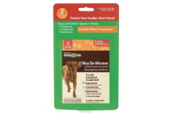 SENTRY Worm X Plus 7 Way De-Wormer Large Dog 2ct