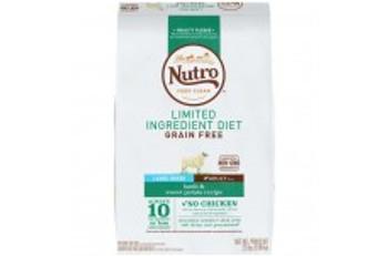 Nutro Limited Ingredient Diet Grain Free Lamb & Sweet Potato Large Breed Dog Food 22lbs