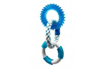 Multipet Canine Clean Peppermint With 3 Rings - 2 TPR And 1 Rope 11in