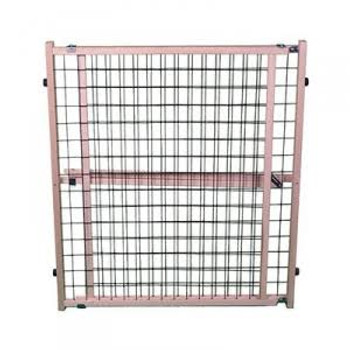 Create pet-free areas in your home with this extra-wide mesh gate. Designed especially for wide openings, this gate is 32 inches high and can expand up to 50 inches wide. Just choose the location, position the gate and lock in place for a secure barrier.