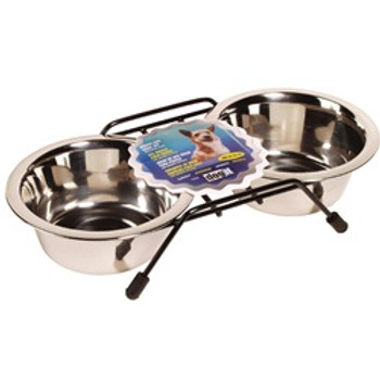Dogit Ss Double Diner Dish Small 13.5oz {requires 3-7 Days before shipping out}