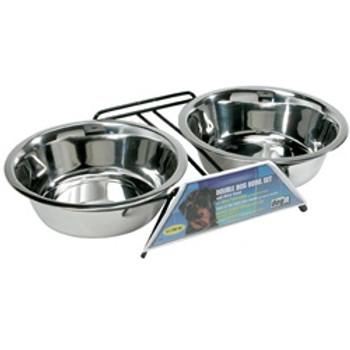 Dogit Ss Double Diner Dish Xl 67.5oz {requires 3-7 Days before shipping out}