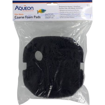 This pad is designed for Aqueon QuietFlow Canister Filter 200. Aqueon Filter Media can be used with various fish tank filters (hang-on-the-back, internal, canister, sump, etc.) to improve appearance and quality of aquarium water for fish. ƒ?› Designed for use with Aqueon QuietFlow Canister Filter 200gph unitƒ?› Performs both mechanical and biological filtrationƒ?› Traps large debris particles found in waterƒ?› For use with freshwater or saltwater applications