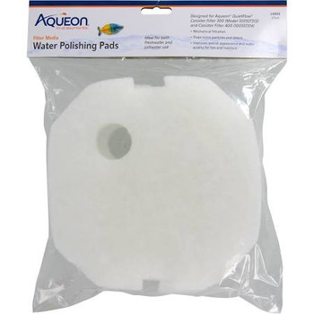 Aqueon Filter Media can be used with various fish tank filters (hang-on-the-back, internal, canister, sump, etc.) to improve appearance and quality of aquarium water for fish. ƒ?› Designed for use with Aqueon QuietFlow Canister Filter 200gph unitƒ?› For use with freshwater or saltwater applicationsƒ?› 1 thick polyester pads remove ultrafine particles from water