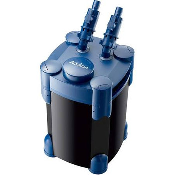 Aqueon QuietFlow Canister Filters are designed for both freshwater and saltwater aquariums. The canister is preloaded with biological, chemical and mechanical media to efficiently remove waste and harmful toxins from water. Additional replacement filtration media ƒ??ƒ??is also available. Included is a unique hang on the back water polishing unit that makes maintenance quick and easy. Instead of disassembling the canister housing to replace the contents of the media basket, simply replace the carbon cartridge. This cuts down maintenance time and means less frequent changes to the media baskets. If a traditional water return method is preferred, i.e. spray bar or water director, the connections and outputs are included.The Canister Filter polishing unit uses Aqueon Replacement Filter Cartridges:ƒ?› Easy access for routine maintenanceƒ?› Multi-stage filtrationƒ?› Flexible options for optimal performanceƒ?› Included:ƒ?› Quick Disconnect Valvesƒ?› Pump Locking Headsƒ?› Water Intake/Output Connectionsƒ?› Hosesƒ?› Media: Activated Carbon, Coarse Foam, Bio-Balls, Bio-Ceramic Ringsƒ?› Water Polishing Unit with Cartridgeƒ?› Uses Aqueon Replacement Filter Cartridges