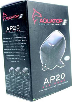 The AQUATOP AP-20 Aquarium Air Pump delivers a powerful punch with low energy consumption and super quiet operation. Aquarium air pumps allow your aquatic creatures to acquire the oxygen they need in order to thrive. An air pump system adds air bubbles, creates current and agitates the water to help in filtration. This is where the quiet hum noise of most aquariums comes from. An air pump also aids in maintaining stable and healthy pH levels inside the aquarium.