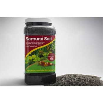 Samurai Soil is the ideal substrate for planted aquaria and freshwater shrimp. It will not affect pH or hardness, will not disintegrate, and is clean and ready to use. Also contains a live bacteria packet and is infused with mychorrizal fungi for enhanced root growth.