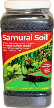 Samurai Soil is the ideal substrate for planted aquaria and freshwater shrimp.  It will not affect pH or hardness, will not disentegrate, and is clean and ready to use.  Also contains a live bacteria packet and is infused with mychorrizal fungi for enhanced root growth.