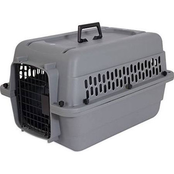 The Apsen Pet? Traditional Kennel is safe and secure for travel and training for both cats and dogs. Each kennel features an easy open squeeze latch, 360 degree ventilation, and a carrying handle. Meets most air travel requirements, please contact your specific airline before traveling for verification of their requirements. Plastic made in the USA, handle and other components imported.