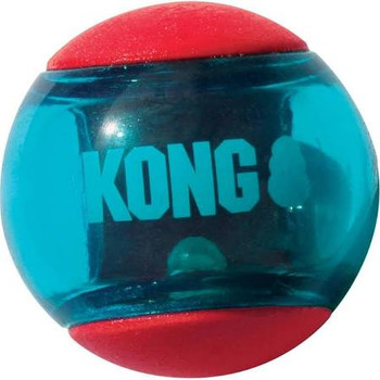 """Dogs love chasing after the wild bounce that comes from the new Kong Squeezz Action balls featuring dynamic rubber and fun shapes that make games of fetch way more fun.  Vibrant, multi-textured, grippy balls beg for chewing and chomping with each squ"""""""