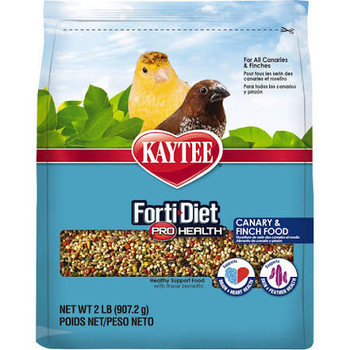 Kaytee Forti Diet Pro Health Feather Canary and Finch Food 2lb{L-2}