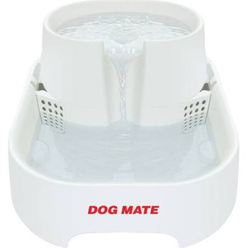 """Dog Mate Pet Fountain for dogs and cats have a unique design that is exceptionally quiet in operation with an IPS (Isolated Pump System).  Suitable for cats and dogs.  Dimensions: 14.25""""""""L x 10.75""""""""W x 6.75""""""""H."""""""