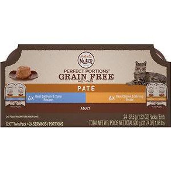 Nutro › Perfect Portions › Adult Cat Food Trays Allow You To Feed Your Cat Wet Cat Food Without The Mess Of Leftovers In Your Refrigerator. Made With Real Meat Protein As The First Ingredient, This Grain-free Cat Food Contains No Artificial Flavors, Color