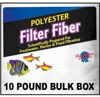 """Blue Ribbon Polyester Filter Fiber The Blue Ribbon Polyester Filter Fiber offers 100% polyester filter floss that is soft in material and ideal for wet / dry filters, canister filters, most power filters and pond filtering units.  Polyester floss giv"""""""
