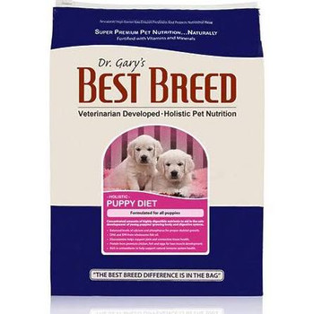 Gary's Best Breed Holistic Puppy Diet Dry Dog Food is an all-natural balanced diet that s holistically formulated to promote the healthy development of growing large breed and small breed puppies.  Formulated with proper amounts of protein, fat and c""