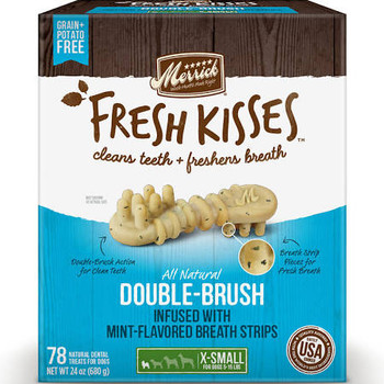 Close Cuddles And Sweet Smooches With Your Best Dog Ever Just Got Better With New Merrick Fresh Kisses, An Innovative Natural Dental Treat Designed Not Only To Clean Dogs Teeth, But To Freshen Breath At The Same Time. While Many Dental Treats Effectiv