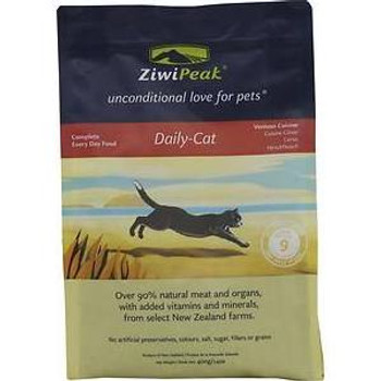 """ZiwiPeak Daily-Cat Air-Dried Cuisine is a premium food made from 100% natural, fresh, raw meat.  The range has been formulated to meet the natural and instinctive nutritional needs of your cat, mirroring the diet she would enjoy in the wild.  New Zea"""""""