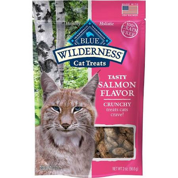 """Crunchy treats cats crave!  100% grain free.  Healthy.  Holistic.  Inspired by the lynx, a carnivore who thrives on meat, Wilderness Crunchy Cat Treats provide a delicious taste in a crunchy treat that cats crave!  100% grain-free, Wilderness Crunchy"""""""