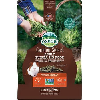 """The guinea pig food with the garden fresh flavor and aroma!  Garden Select Adult Guinea Pig contains all of the complete nutrition you've come to expect from Oxbow, with a flavor profile hand-picked from Mother Nature's kitchen.  Select garden ingred"""""""