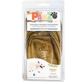 Waterproof, Disposable And Reusable Rubber Dog Boots. Your Dogs Good Health Starts With Clean Paws. Pawz Come 12 In A Package And Each Boot May Be Worn Many Times.