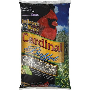 """All natural preservative free wild bird foods!  Preferred by bird watching enthusiasts everywhere!  An all natural blend with real peanuts and raisins.  With the premium white safflower seeds that cardinals love!  We created Bird Lover's Blend for th"""""""