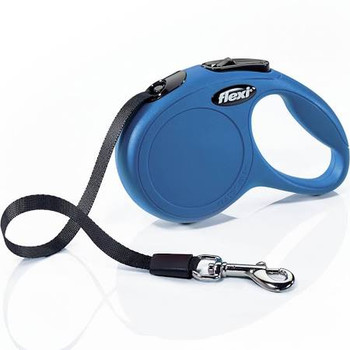 10 ft tape leash, in pocket format for dogs, cats and small animals up to 26 lbs. Intuitive handling, thanks to convenient brake button and ergonomic grip. Fast, reliable response by the Short-stop one-handed braking system. Made in Germany