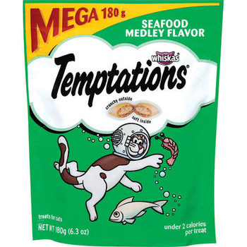 Reward your cat with a scrumptious playtime snack! Pet parents choose TEMPTATIONS Treats for Cats because they are 100% nutritionally complete and balanced for adult cat maintenance. Plus, at only 2 low calories per treat, your feline fri