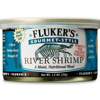 Fluker's Gourmet Style Canned River Shrimp provide reptiles, birds, fish and aquatic turtles with a moist, healthy meal that satisfies both nutritional needs and sensitive palates.  They make an excellent daily meal for a variety of insect-eating rep""