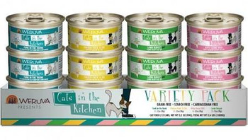 We Love Our Cats, And They Love Us Back. But There's Nowhere They Love Us More Than In The Kitchen! That's Why Weruva Has Created A Cats In The Kitchen Variety Pack; A Grain-free Mix Of 4 Recipes In 3 Ounce Cans. Whether You Aren't Sure Which Flavor Your