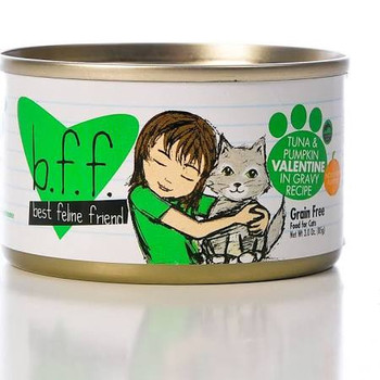 """Weruva BFF Tuna and Pumpkin Valentine Can The best you can get for your furry little feline purr machine!  With a high quality protein focus and limited carbohydrates your kitty will enjoy BFFs Grain Free Low Fat recipes that also deliver the High Mo"""""""