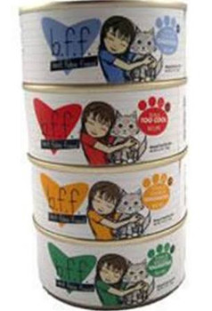 """Best Feline Friend Tuna &amp Tilapia Twosome Recipe in Aspic Canned Cat Food is made with food fit for human consumption and processed in a human grade facility.  BFF formulas have superb palatability which is attributable to the high quality of the"""""""