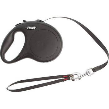 16 ft tape leash can be accessorized with the Multi Box and/or the LED Lighting System, for dogs weighing up to 110 lbs.. Intuitive handling, thanks to convenient brake button and ergonomic grip. Fast, reliable response by the Short-stop one-handed braking system. Made in Germany