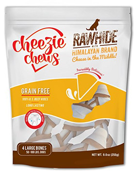 Cheezie Chews U.s. Beef Hide Chews With Himalayan Cheese In The Middle Combine Two Great Chews Into One Great Product. Our Knots Are Made From 100% U.s. Beef Hides And Feature A Center Made From Easily Digestible, Lactose And Fat Free Himalayan Brand Chee