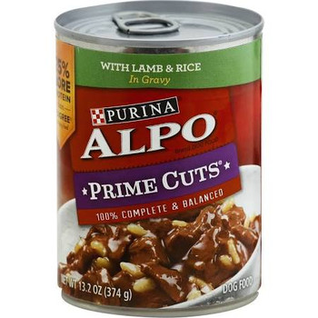 Tender, meaty bites. 100% complete &amp balanced.  Purina Alpo Prime Cuts in Gravy Homestyle with Lamb &amp Rice is formulated to meet the nutritional levels established by the Association of American Feed Control Officials (AAFCO) Dog Food Nutrient""