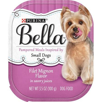 From the moment you brought her home as a puppy, you've been in awe of your small dog, and filling her little stomach with Purina Bella Filet Mignon Flavor in Savory Juices adult wet dog food lets you give back all of the love she gives you each day.""