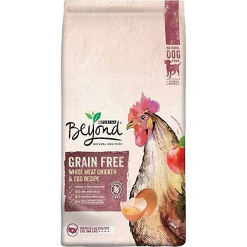 """Purina Beyond Grain Free White Meat Chicken &amp Egg Recipe Dog Food makes certain your dog gets all the nourishment he needs and nothing he doesn't.  This will help avoid stomach upset.  Each day, simply feed a little less of the previous food and a"""""""
