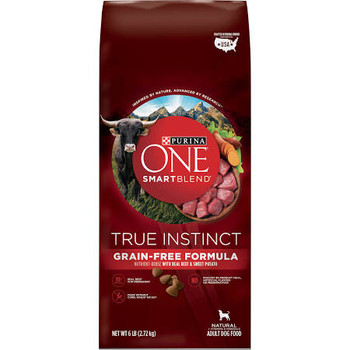 """Nutrient-dense with real beef &amp sweet potato.  30% Protein: Real beef No. 1 ingredient.  Made without corn, wheat or soy.  Highly digestible.  Crunchy kibble with no artificial colors or flavors.  New.  Inspired by nature, advanced by science.  Di"""""""