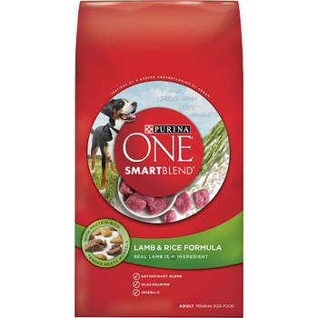 """With protein-rich tender meaty morsels.  Inspired by a deeper understanding of dogs.  Vitamin A.  Protein.  Calcium.  Fiber.  Vitamin E.  Real lamb is No. 1 ingredient.  Antioxidant blend.  Glucosamine.  Omega-6.  What Makes SmartBlend Smart   It's i"""""""
