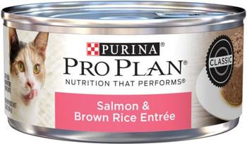 Purina Pro Plan Savor Adult Salmon & Brown Rice Entree Cat 24/5.5Z