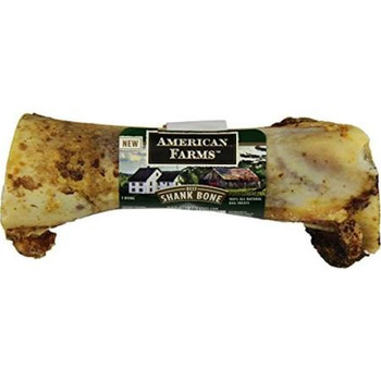 American Farms Natural Beef Shank Bone Dog Treat American Farms produces 100% all natural dog treats with real meat -- and no rawhide, additives, artificial colors or flavors.  Made in the USA from America farm-raised cows, American Farms Natural Bee""