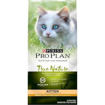 """Like her wild ancestors, your kitten is an obligate carnivore.  She not only loves meat, she requires high levels of protein and other essential nutrients as her body develops.  That's why Purina Pro Plan True Nature delivers what your kitten craves"""""""