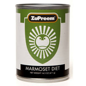 ZuPreem Marmoset Diet Canned is formulated to be a nutritionally complete diet when a source of Vitamin C is provided. Designed to be fed as the primary diet for marmosets and tamarins.