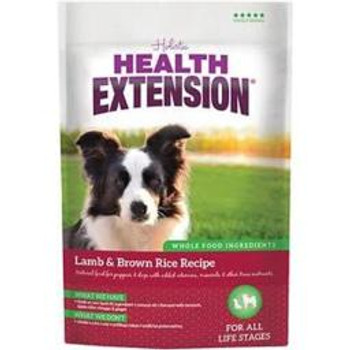 Health Extension Lamb   Brown Rice Recipe dry dog food is carefully formulated for the complete health of dogs of any age or breed. With free range New Zealand or Australian lamb as our #1 ingredient, your pet will enjoy a nutritious and delicious diet. P