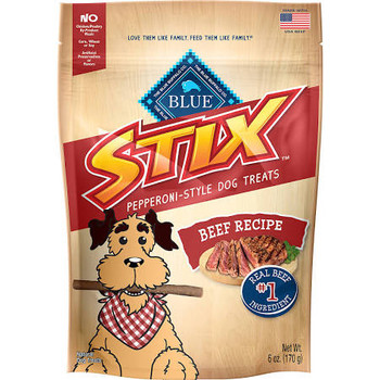 Your Best Pal Will Love Munching On Our Tasty, Pepperoni-style Blue Stix And Youll Love Feeding Them To Him.thats Because Blue Stix Always Start With Real Meat And Never Contain Chicken (or Poultry) By-product Meals, Corn, Whea