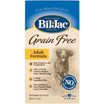 Good Nutrition Doesn't Have To Be Complicated. That's Why We Created Bil-jac Grain Free - It Is Simple But Powerful Nutrition That Helps Your Dog Rise Above The Grain. The Protein From Fresh Chicken And Menhaden Fish Meal Help Supply The Essential Amino A